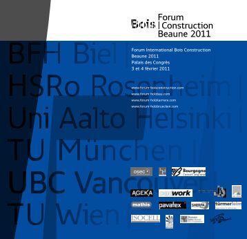 Forum |Construction Beaune 2011 - Ordre des Architectes