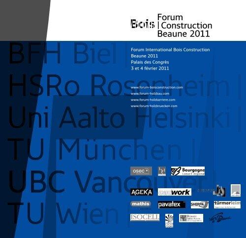 Forum  Construction Beaune 2011 - Ordre des Architectes