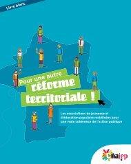 Livre Blanc « Pour une autre réforme territoriale - Cnajep