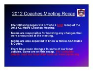 2012 Coaches Meeting - RECAP.ppt [Compatibility Mode]
