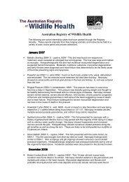 January Quarterly Summary - Australian Registry of Wildlife Health