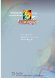 iadis european conference on data mining 2011