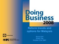 Reform trends and options for Malaysia