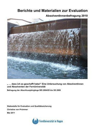 Berichte und Materialien zur Evaluation AbsolventInnenbefragung ...