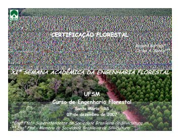 Certificação Florestal - Sociedade Brasileira de Silvicultura