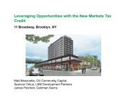 Leveraging Opportunities with the New Markets Tax Credit
