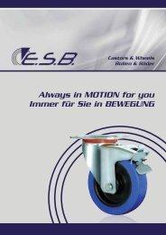 Always in MOTION for you Immer für Sie in ... - ESB-Systembau