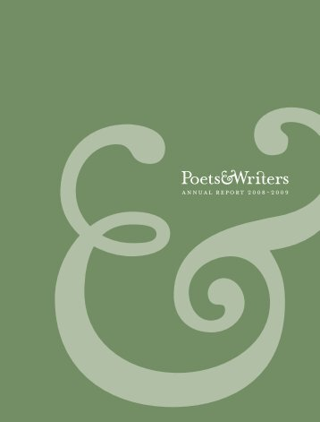 annual report 2008-2009 - Poets & Writers