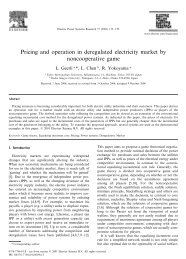 Pricing and operation in deregulated electricity market by ...