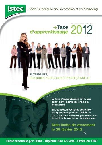 Créée en 1961 Taxe d'apprentissage - Istec