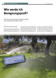 Wie werde ich Beregnungsprofi? (PDF) - Georg von Koppen