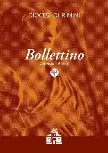 Gennaio - Aprile Bollettino - Diocesi di Rimini