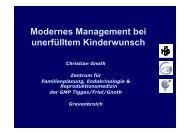 Modernes Management bei unerfülltem Kinderwunsch