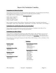 Report of the Nominations Committee - Central Illinois District ...