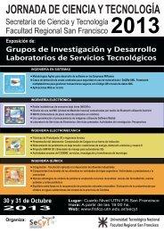 Afiche - SICyT - Universidad Tecnológica Nacional