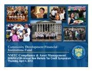 NMTC Compliance & Asset Management
