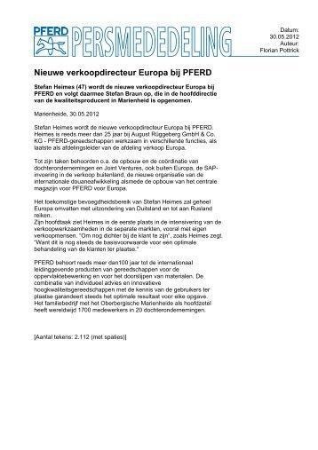 Nieuwe verkoopdirecteur Europa bij PFERD
