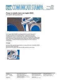 Frese in metallo duro con taglio INOX - Pferd