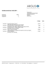 Inhaltsverzeichnis 16.03.2011 - SCRHG