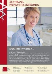 Flyer Ärztebank-Premium-Fix-Sparkonto