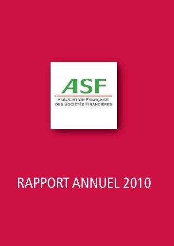 Parution du rapport annuel de l'ASF 2010