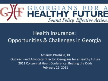 Health Insurance: Opportunities & Challenges in Georgia