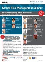 Global Risk Management Summit - ICMA Centre