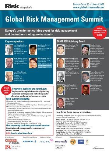 Global Risk Management Summit - ICMA Centre