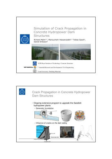 Simulation of Crack Propagation in Concrete Hydropower Dam ...