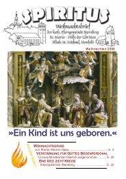 Die Mittelseite mit den Gottesdiensten zur ... - Pfarrei Starnberg