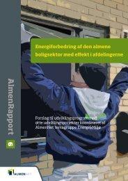 Energiforbedringer af den almene boligsektor med - Center for ...