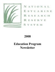 NERRS Education Sector Annual Highlights - Estuaries NOAA