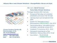 967 kB 15 November, 2013 Climate Solutions - Bertil Forsman - BeBo