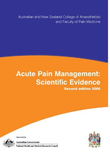 Acute Pain Management: Scientific Evidence