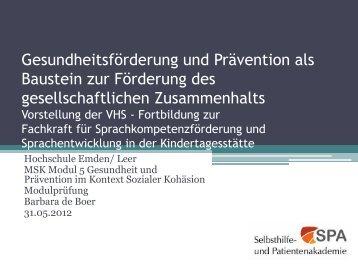 Eva- Maria Schlüter - Selbsthilfe- und Patientenakademie