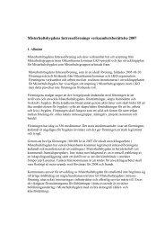 Verksamhetsberättelse för 2007 - Misterhultsbygden
