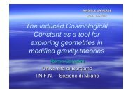 The induced Cosmological Constant as a tool for ... - Univers Invisible