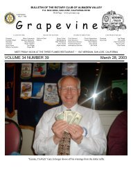 G r a p e v i n e - The Rotary Club of Almaden Valley