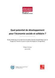 Quel potentiel de développement pour l'économie sociale et solidaire