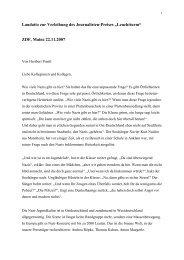 """Laudatio zur Verleihung des Journalisten-Preises """"Leuchtturm"""" ZDF ..."""