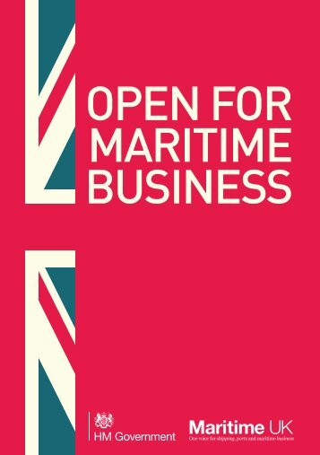 Open for maritime business - Gov.uk
