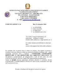 LICEO STATALE SCIENTIFICO, LINGUISTICO E ... - Licei di Bra