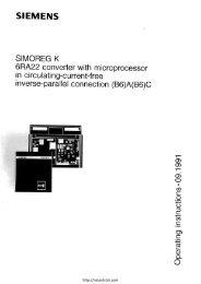Siemens 6RA22 Manual - Northern Industrial