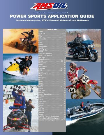PowerSports Air Filter Application Guide