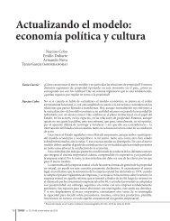 Actualizando el modelo: economía política y cultura - Temas