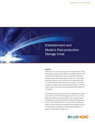 Entertainment and Media's Post-production Storage Crisis