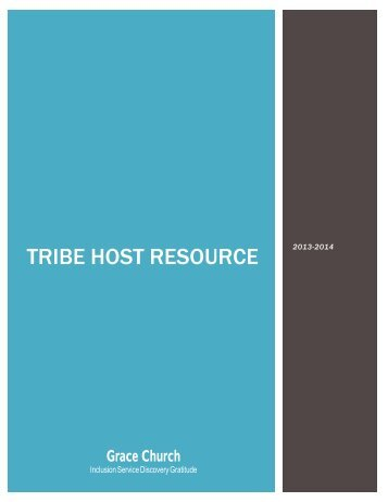 Tribe Host Resource Guide - Grace Episcopal Church