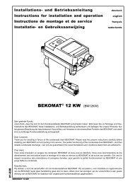 Installations- und Betriebsanleitung Instructions for installation and ...