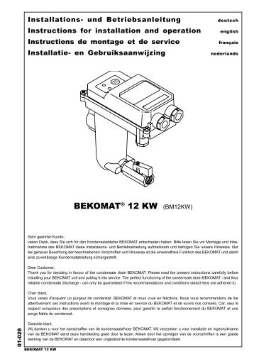 Installations- und Betriebsanleitung Instructions for installation and ...