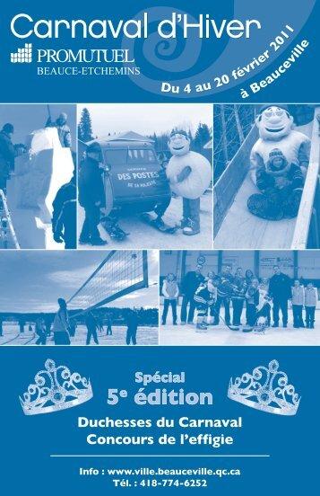 5e édition - Ville de Beauceville